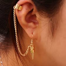 earring with chain to cartilage earring wire picture more detailed picture about 1 right