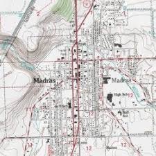 map of oregon showing madras madras jefferson county oregon populated place madras west