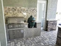 Outdoor Kitchen Backsplash Creative Outdoor Kitchens Big Green Egg Creative Outdoor Kitchens