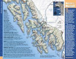Alaska Inside Passage Map by Central Location Wrangell Alaska