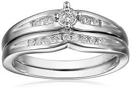 diamond bridal sets 10k white gold diamond bridal set 1 4 cttw h i color