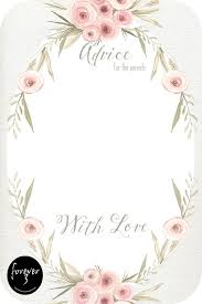 advice for the cards baby shower advice cards floral forever3paperie