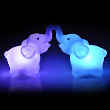 goodtrade8 7 color led light changing elephants
