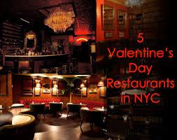 Valentine S Day Decor For Restaurant by Valentine U0027s Day Date Restaurants In Nyc