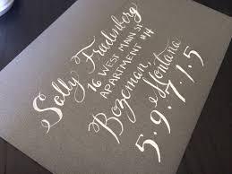 diy calligraphy save the dates wedding invitations address