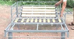 King Size Folding Bed King Size Fashion Fold Out Convertible Wooden Slat Metal Tube Sofa