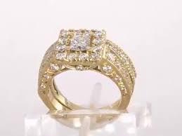 princess round engagement ring wedding band set 3 5ct