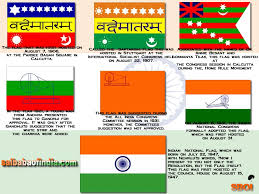 National Flags With Orange Journey Of The Indian National Flag