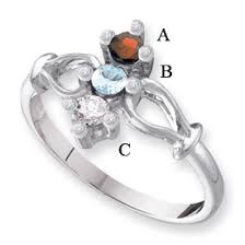 mothers rings white gold white or yellow gold s ring with 3 genuine birthstones