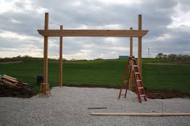 Pergola Rafter End Designs by How To Build A Pergola The Hansen Family
