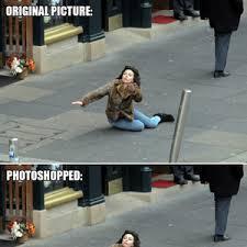 Scarlett Johansson Falling Down Meme - scarlett johansson falls down photoshop takes over by