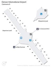 denver terminal b map denver airport den guide fly to denver with flight centre