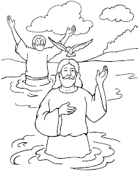 birth of jesus coloring page baptism of jesus color page