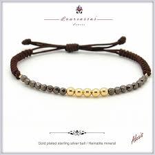 gold plated sterling silver bracelet images Gold plated sterling silver beads bracelet with mineral jpg