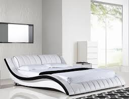 White King Platform Bed American Eagle B D030 Ek Modern White King Platform Bed
