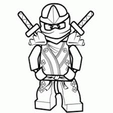 Coloriage Zane  Ninjago  Sans Dépasser