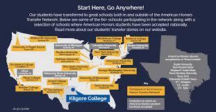 kilgore map honors program kilgore