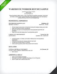 Proposal Resume Template Sample Of Resume For A Job Warehouse Resume Sample Sample Resume