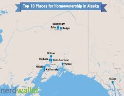 Alaska Map With Cities And Towns by Best Places For Homeownership In Alaska Nerdwallet