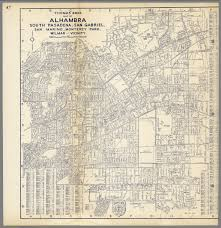 San Gabriel Map Thomas Bros Map Of Alhambra South Pasadena San Gabriel San