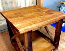 X Side Table Rustic X End Table Etsy