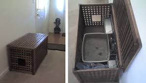 Kitty Litter Bench 27 Useful Diy Solutions For Hiding The Litter Box