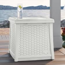 suncast cube 13 gallon resin deck box walmart com