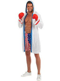 Boxer Halloween Costume Adults American Boxer Costume Mens Boxing Fancy Dress Sport Usa