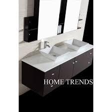 inch wall mounted double espresso wood bathroom vanity include
