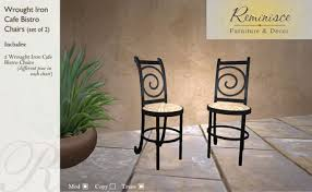 Wrought Iron Bistro Chairs Second Marketplace Wrought Iron Bistro Matching Chairs Set