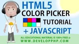 html color picker input tutorial
