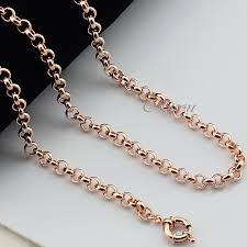 rose gold necklace chains images Rose gold necklace chain white house designs jpg