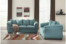 Blue Sofas And Loveseats Darcy Sofa And Loveseat Ashley Furniture Homestore