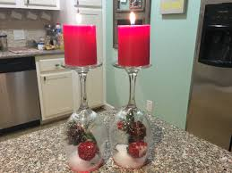 wine glass snow globes easy dollar tree christmas diy snow globe candle decor