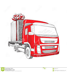 delivery transport truck stock vector image 63435419