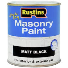 rustins quick drying masonry paint matt black for interior