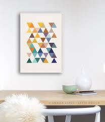 triangles 6 mid century geometric print ld10004 u2013 latte design