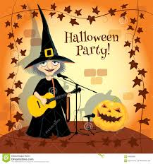 halloween concert party invitation stock vector image 59805980