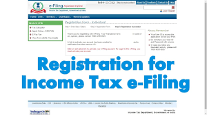 how to register an account on income tax india e filing website