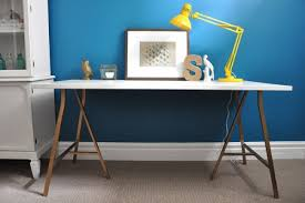 Diy Trestle Desk Diy Trestle Desk Shelterness
