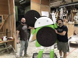 android statues one of these android oreo statues is not like the other android