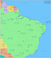 North America South America Map by Amateur Radio Prefix Map Of Eastern South America