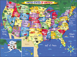 United States On A Map by United States Of America Puzzle White Mountain Puzzles