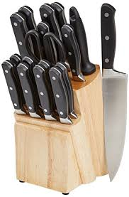 kitchen knives block set amazonbasics premium 18 knife block set best kitchen knives