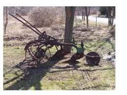 antique farm equipment lawn ornaments fenton area for