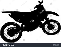 motocross bike finance dirt bike silhouette stock vector 1255646 shutterstock