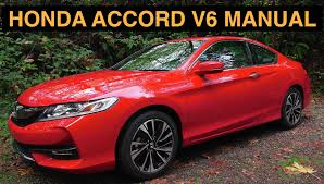 2016 honda accord v6 manual 2dr ex l review u0026 test drive youtube