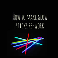 how to fix re light your glow sticks youtube