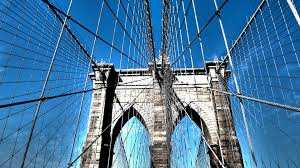 Brooklyn Flag Wires Tag Wallpapers Brooklyn Bridge Wires Black White City