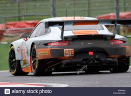 gulf porsche 911 imola italy u2013 may 16 2015 porsche 911 rsr of gulf racing uk